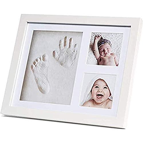 Baby Handprint Kit & Footprint Kit Photo Frame for Girls & Boys-Perfect for...