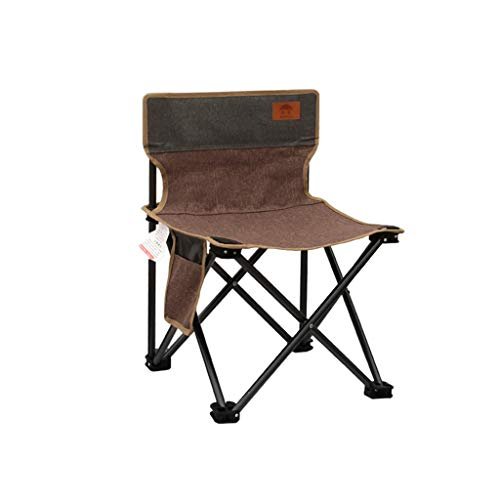 Camping Folding Chair Outdoor Freestyle Rocker Portable Folding Chair with Side Pocket for Outdoor Camp Fishing Hiking (Color : Brown)