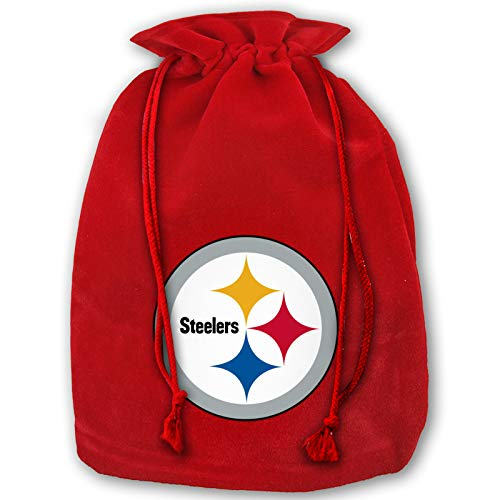 Azhangljqn Christmas Bags Pittsburgh-Steelers Drawstring Bags 1 Pack, Santa Candy Bag Tote, Unique Winter Christmas Design for Kids and Adults