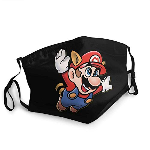 sQiao Super Mario Bros Ear Hanging Face Scarf Windproof Bandana Headwear