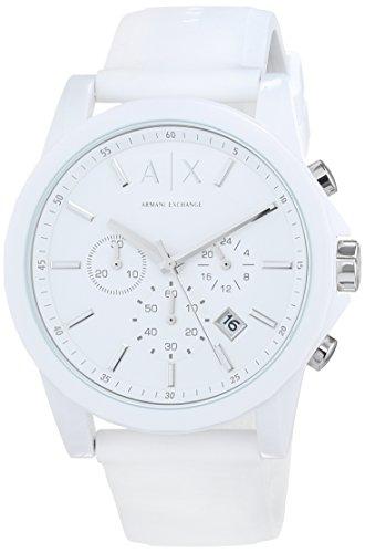 Armani Exchange Homme Chronographe Quartz Montre avec Bracelet en Silicone AX1325