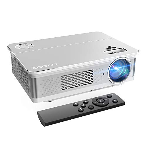 COOAU Native 1080P Outdoor Movie Projector 6800 Lumens Home Theatre Projector Support 300inch Screen with Hi-Fi Speakers