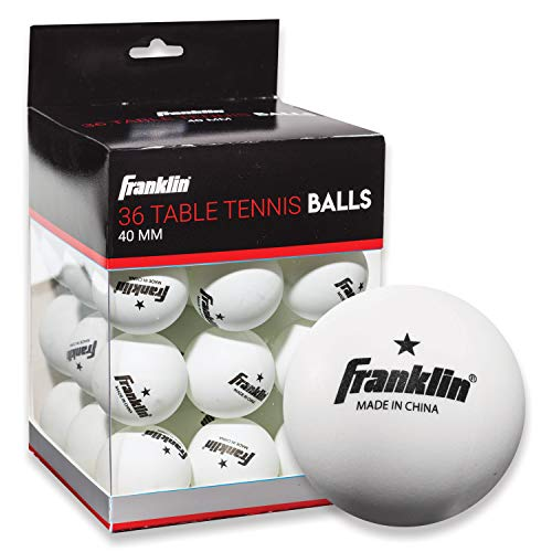 Franklin Sports Table Tennis Balls - Official Size and Weight 40mm Table Tennis Balls - One Star Professional Balls - Bulk Packs and Family Sets - White - Pack of 36