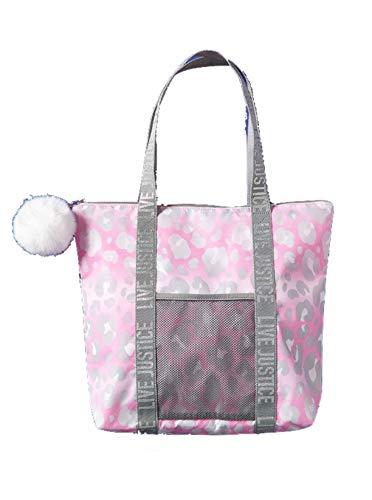 Justice Tote Bag Pink Pom