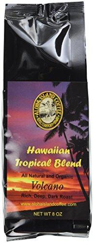 Volcano, Dark Roast, Kona Hawaiian Coffee Blend, 8 Oz Ground