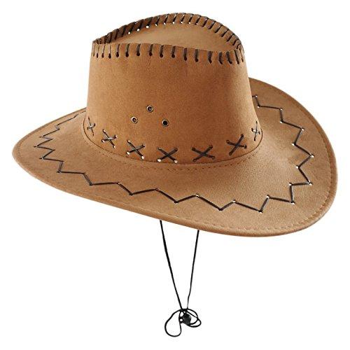 Sombrero Vaquero Adulto Marrón