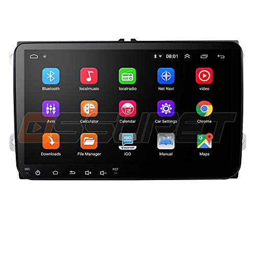 Android 10 Car Stereo Double DIN Vehicle FM Player con Canbus Admite Mirror-Link Bluetooth Radio CAM-IN WiFi 4G SWC DVR TPMS Dab + Se Adapta a Volkswagen/Skoda/Seat