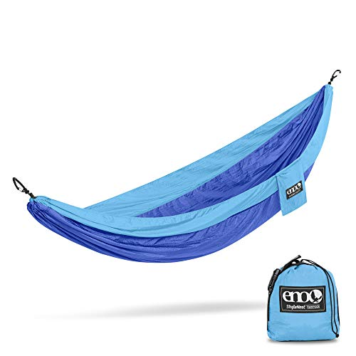 ENO, Eagles Nest Outfitters SingleNest Lightweight Camping Hammock, Powder Blue/Royal