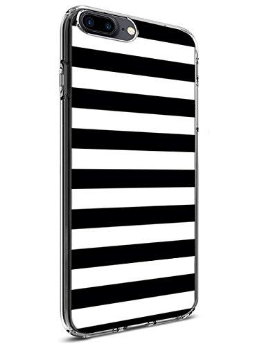 TPU iPhone 8 Plus/iPhone 7 Plus Case with Design for iPhone 8 Plus/iPhone 7 Plus 5.5 Inch Black and White Pattern