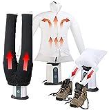 Sichler Haushaltsgeräte Hosenbügler: 2in1-Bügelpuppe inkl. Hosen-Aufsatz und Schuhtrockner-Aufsatz (Bügelmaschine)
