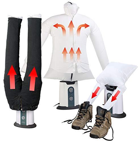 Sichler Haushaltsgeräte 2in1-Bügelpuppe inkl. Hosen-Aufsatz und Schuhtrockner-Aufsatz