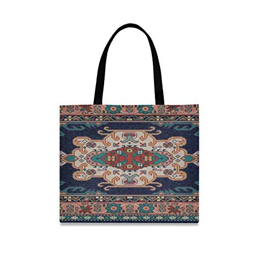 Bolso de compras de gran capacidad cuadrada Totalizador Alfombra de mosaico oriental...