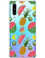 Oihxse Funda Huawei Mate 30 Pro 5G, Ultra Delgado Transparente TPU Silicona Case Suave Claro Elegante Creativa Patrón Bumper Carcasa Anti-Arañazos Anti-Choque Protección Caso Cover (A4)