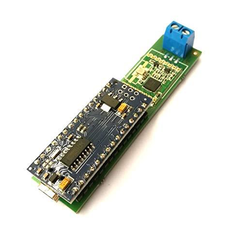 CUL NanoCUL Transceiver Platine für 433MHz, 868MHz RFM69-HW, CC1101 RF Funkmodule und Flashspeicher SO8 incl. Levelshifter / Levelconverter 5V zu 3V3 (Board + Funkmodul RFM69HW 433MHz und 8Mbit Flash)