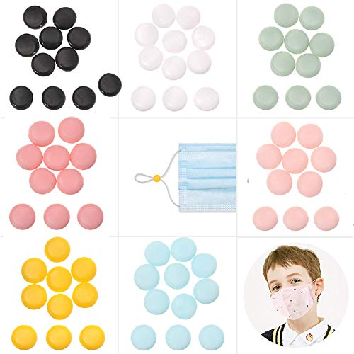 140 PCS Cord Locks Silicone Toggles for Adjusting Drawstrings Elastic Cord Multi-Color Non Slip Stopper Elastic Adjustment Button for Child's Adult Lanyard, Shoelaces, Bags, Clothing