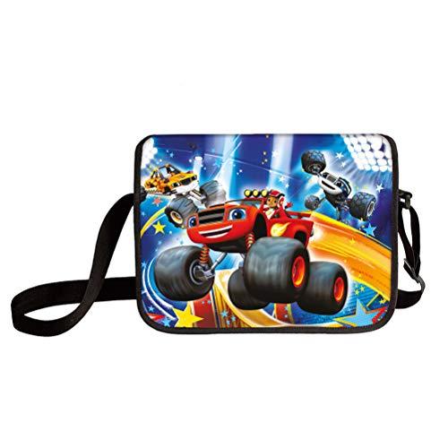 Blaze and The Monster Machines Light Stylish Shoulder Bag Classic Basic Crossbody Bag Travel Messenger Bag Shoulder Bag Messenger Bags Multiple Pocket Crossbody Bag Kids