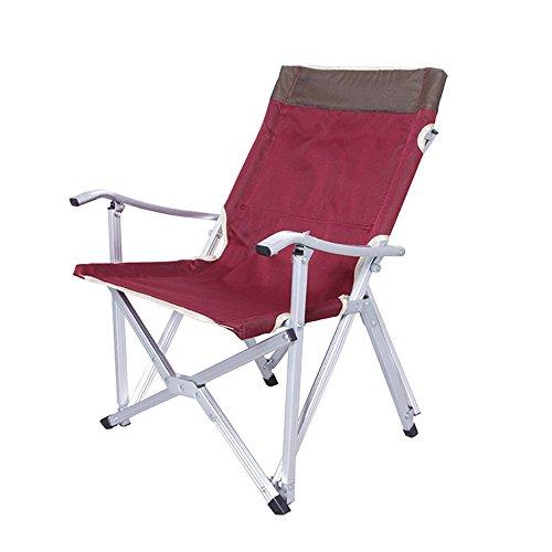 Huanlei Angelstuhl Ultra-Ogawa leichten Aluminium-Legierung Angeln Stuhl Oxford Cloth Folding Beach Chair Schwimmen Camping Chair Car Bequemer Klappstuhl