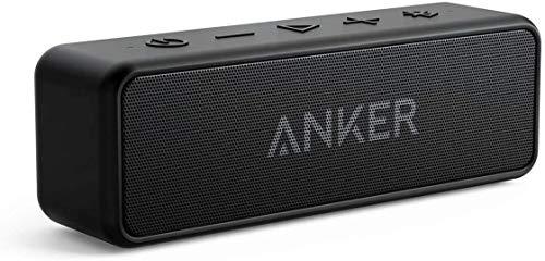 Anker SoundCore 2 Bluetooth Lautsprecher mit Dual Treiber Bass, 24h Spielzeit, Upgraded IPX7 Wasserfest mit Eingebauten Mikrofon, Kabelloser Lautsprecher(Schwarz)(Generalüberholt)