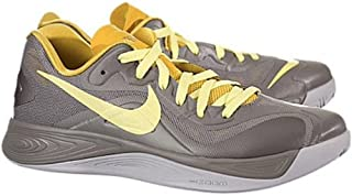 NIKE Men's Hyperfuse Low, SPORT GREY/ELECTRIC YELLOW/STRATA GRAY, 9 M US