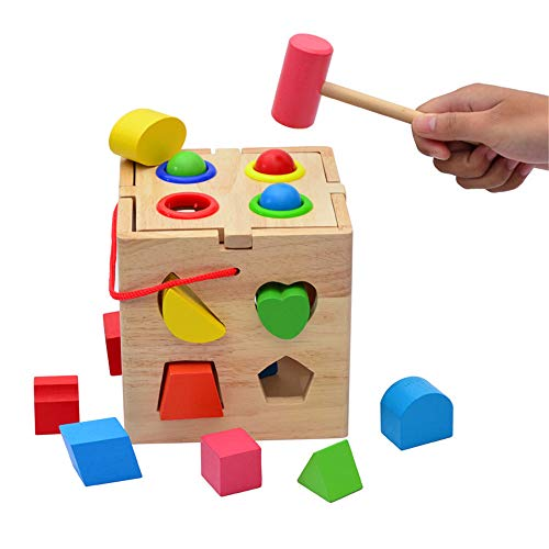 RENJUN Kognitiver Zusammenpassender Kasten 17 des Lochgeschenkkugelform-Intelligenzkastens des Babygeschenks Ausgefallene Frühkindliche Kindheit Lernspielzeug für Kinder