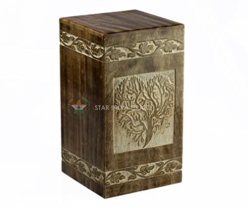 Star India Craft Tree of Life Rosewood Box