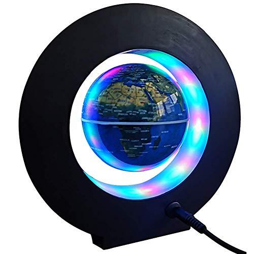 JJYY Globo Flotante de levitación magnética, Globo de Mapa del Mundo Lámpara de luz con Luces LED de Colores Decoración del hogar Decoraciones de Escritorio Regalos de cumpleaños