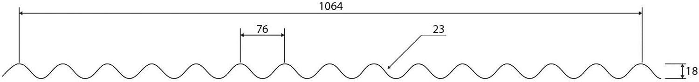 Dachblech St/ärke 0,50 mm Profilblech Profil PS18//1064CRA Material Stahl Wellblech Beschichtung 60 /µm Farbe Anthrazitgrau