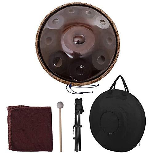 Handpan Tambor De Mano Material De Percusión De Acero Al Carbono Carry Bag Metal Stand, Hang Drum Instrumento Sanación Sana Hecho A Mano Actuación, Regalo con Bolsa De Tambor
