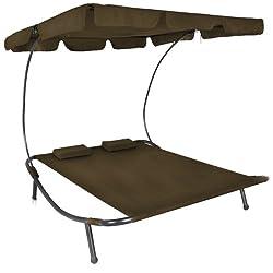 doppelliege mit dach verstellbarer sonnenschutz. Black Bedroom Furniture Sets. Home Design Ideas