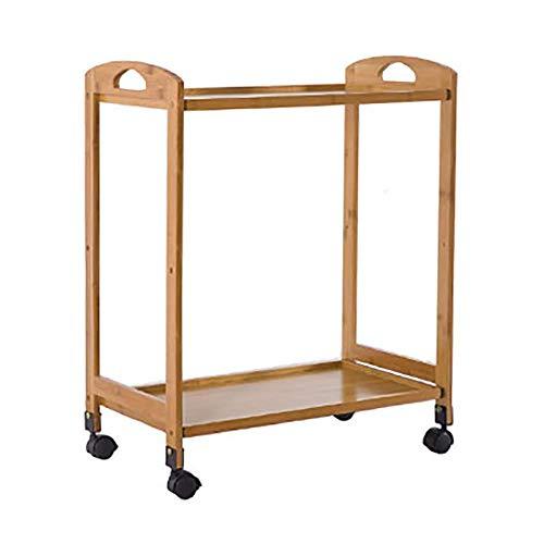 First Choice Trolley On Wheels Tool 2 Tier Medical Tool Utility Cart, Carrito de Catering del Hotel con Rueda de Freno Universal, Carro de Balneario de SPA for peluquería, 59 × 33 × 73cm plm46
