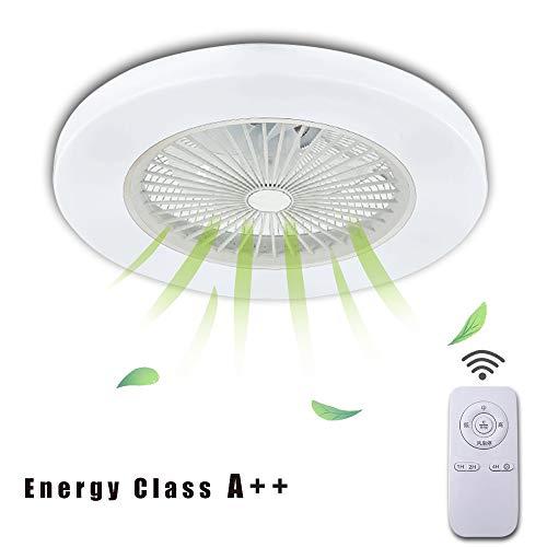 Ventilador Potent - LED Luz del Ventilador,Ruido Bajo,Ajuste De Luz De Tres Colores,con Control Remoto,Ventilación del Hogar,Ventilador Techo