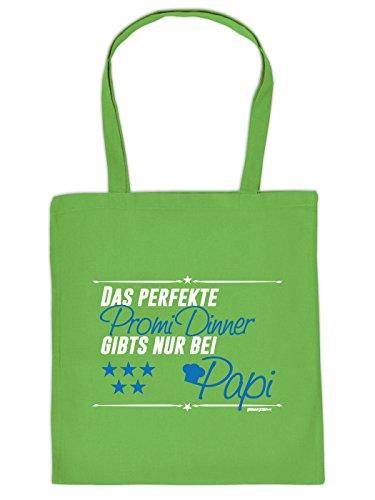 Stofftasche - Das perfekte Promi Dinner gibt's nur bei Papi - lustig bedruckte Umhängetasche für den Vater mit Humor - Tasche Henkeltasche mit witzigem Spruch