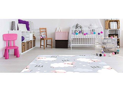 Oedim - Alfombra Infantil Ovejitas PVC 95 cm x 165 cm| Moqueta Adulto PVC | Suelo vinilico para Adultos