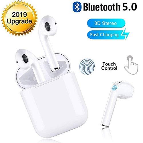 ✿ [Tecnologia Bluetooth 5.0]: l'auricolare Bluetooth wireless TWS utilizza la tecnologia Bluetooth 5.0 + EDR e il chip aggiornato. La velocità di trasmissione è doppia rispetto alla connessione tradizionale, facile da collegare, molto stabile e molto...