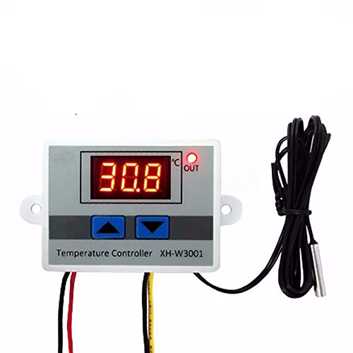 Anonyme XH-W3001 W3001 Temperature Controller Digital LED Temperature Controller Thermometer Thermo Controller Switch Probe DC12/AC220V W3001 Temperature Control Module (220v) (ZJ0182-3)