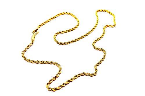 Collana Oro Giallo 18kt (750) Collier Girocollo Corda Laser cm 40 donna ragazza