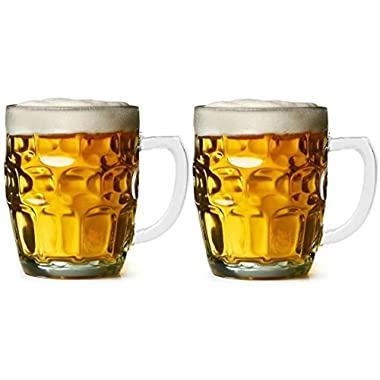Dimple Stein Beer Mug - 19.00 Oz (2 Pack) Chefcaptain