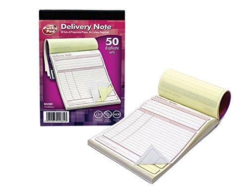 'dcu5881' Pukka Pad NCR Duplicado entrega Nota libro. 50conjuntos de papel autocopiante (137x 203mm).