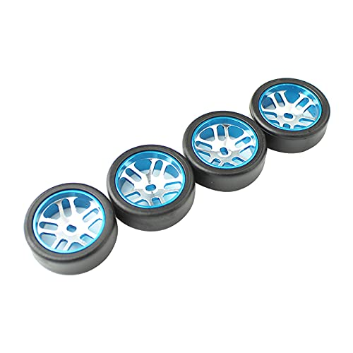 Sharplace 4 Piezas RC Car Upograde Rueda buje neumáticos para WLTOYS K969 RC Crawler Buggy Hobby Modelo Coche DIY Modificado Piezas de vehículo - Azul