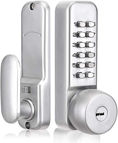 Gigue Mechanisches Türschloss mit externem Zahlencode, 1-11-stellige Zahlenkombination Diebstahlsicherungs Verriegelung, Sicherheitstürschloss Für Den Innen Und Außenbereich