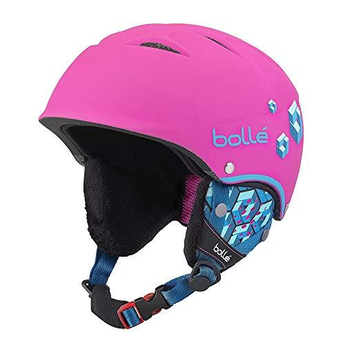 bollé 31468 Cascos de Esquí, Niñas, Rosa (Soft Neon Pink Blocks), 4