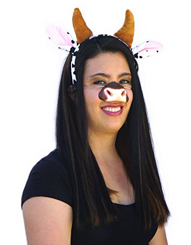 GGE Cow Ears, Nose, Horns Costume Accessories Kit