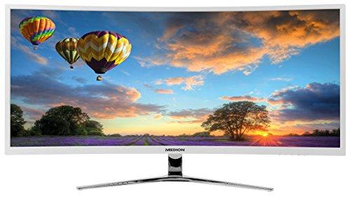 MEDION AKOYA X58434 MD 22434 86,4 cm (34 Zoll UWQHD) Curved LCD Monitor (3440 x 1440 Pixel, 21:9, 8ms Reaktionszeit, PbP, Pip, HDMI, Displayport, DVI-D) weiß