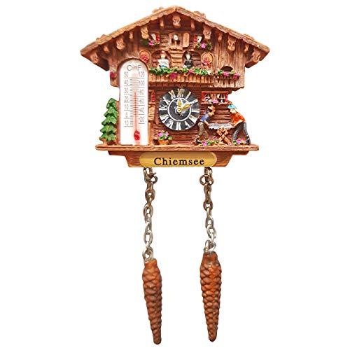Kuckucksuhr Magnet Polyresin Kühlschrank Wetterhaus - Chiemsee