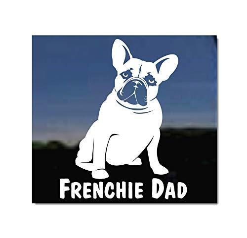 Frenchie Dad | Sitting Fawn French Bulldog Window Decal Sticker