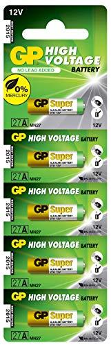 GP 27AF-2C5 12V Batteria alcalina, Confezione da 5 pezzi