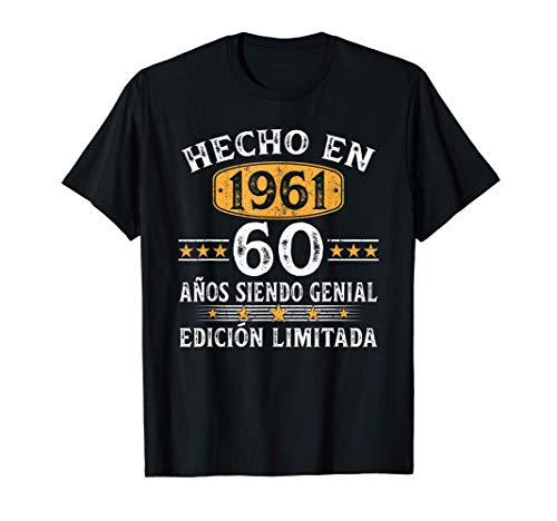 60 Años Cumpleaños Regalo Para Hombre Mujer Hecho En 1961 Camiseta