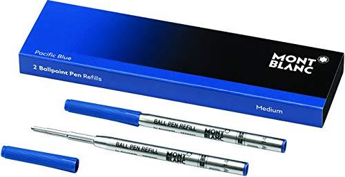 MONTBLANC Kugelschreibermine, Großraum, M, Schreibfarbe: pacific blue (2 Stück), Sie erhalten 1 Packung á 2 Stück