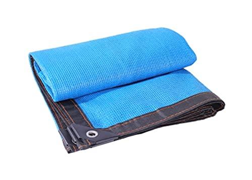 ZZYE Malla Sombreo 85% Blue Shade Paño, Sun Mesh Sunblock UV Red Resistente a la Cubierta de jardín Flores Plantas Patio Césped Lona Toldo (Size : 6x9ft/2x3m)