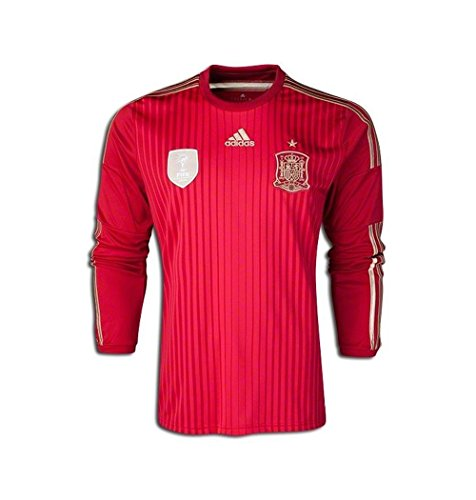 Adidas Spain World Cup 2014 Mens Home Long Sleeve Soccer Jersey (X-Large)